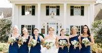 Deep Blue Cocktail Dresses with Different Necklines | Graham Terhune Photography | Theknot.com