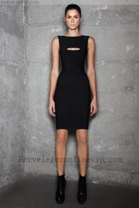 Herve Leger Dress Novelty Cutout Jacquard-stripe Strapless Adeline Black On Sale