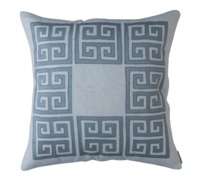 Guy Blue Silk Square Border Pillow by Lili Alessandra $350.00