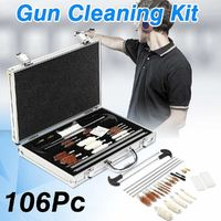 106Pcs Universal Gun- Cleaning Tool Kit Rifle Handgun Shotgun Cleaner Pistol Pipe Mop Brush Accessory with Carry Case $44.99