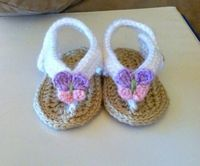 Spring Time Baby Sandals pattern on Craftsy.com