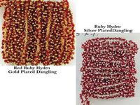 Ruby Hydro 925 Silver & 24k Gold Plated Delicate Dangling Beaded Chains 2-2.5mm Beaded Rosary Chain $34.91