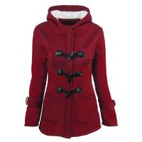 Horn Button Coat Hooded Wool $69.00