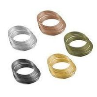 Pack of 40 Coils Steel Memory Wire. Metal Handmade Bangles & Hoop Earrings. 55mm Loops £8.69
