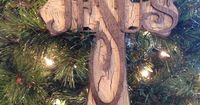 Standing Creme crackle wood Cross by SignsBYDebbieHess on Etsy, $25.00