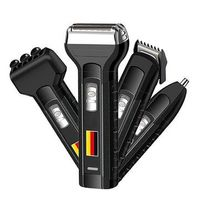 4 In 1 Rechargeable Electric Beard Shaver Hair Clipper Nose Hair Trimmer Cordless Massager Razor Men