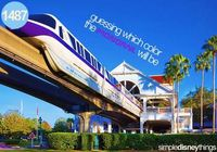 Guessing what color the monorail will be - Simple Disney Things