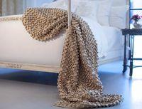 Ecru Ribbon Throw by Lili Alessandra $438.00