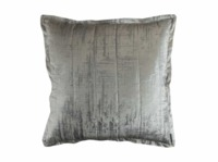 Moderne Ivory and Silver Euro Pillow by Lili Alessandra $275.00
