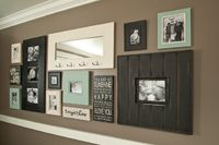Love this idea for a picture wall