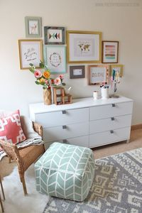 I am obsessed with this whimsical little girls room! Sweet, bright, and not at all predictable!