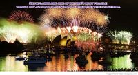 Beautiful fireworks image and sea happy new year