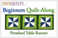 FaveQuilts Beginners Pinwheel Table Runner Quilt-Along. Make this #quilt with us!