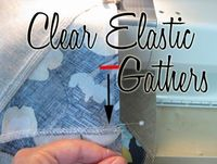 I think one of the most asked questions is how I gather with clear elastic. It has changed the way I sew. NEVER ever ever use basting threads again. Nope clear elastic is the only way to go. You'll never have to mess with pulling threads or scra...
