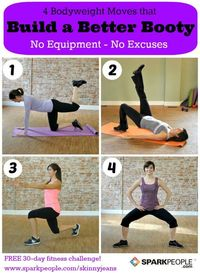 4 Bodyweight Exercises to Tone Your Butt: These are amazingly effective. Click for instructions and reps! | via