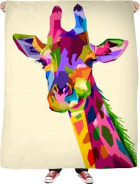 Love Giraffes Fleece Blanket $65.00