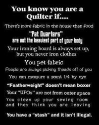 Real quilters....