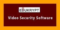 In the Technological world, various modes which promote for unauthorized access of your important lecture videos or tutorials. So Edukrypt developed video security software to prevent your videos and safely hand over to the right candidate. Know more call...