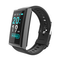 Bakeey D5 Real-time Heart Rate Blood Pressure O2 Monitor Multi-sport Modes Weather Push Music Control Dynamic UI Display Smart Watch