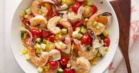 Three ounces of shrimp has 83 calories, 1 gram of fat, and 18 grams of protein. It's an excellent source of selenium and a good source of vitamins D and B12. Th