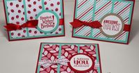 Stuck on Stampin': fresh prints - three in a row (ssink card sketch!)