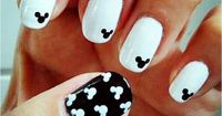 Mickey Mouse Disney Nail Art