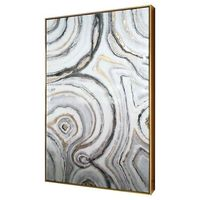"""�€� Canvas, MDF, and polystyrene<br>�€� Measures 1.75�€x25�€x40�€<br><br>Beautiful abstract wall art will catch the eye and become a focal point with the Geode Framed High Gloss on Canvas 40""""x25"""" f..."""