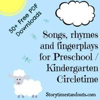 Songs, fingerplays, rhymes for preschool and kindergarten themes - including seasonal materials. More than 50 free PDF downloads from Storytime Standouts.
