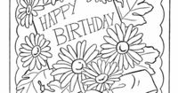 Birthday Coloring pages | Birthday card Flowers