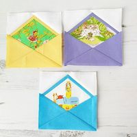 Over the weekend I made some cute little envelopes for the Heather Ross mini swap that I was working on, and a few people declared their love for them over on Instagram, so I thought I'd give�€�