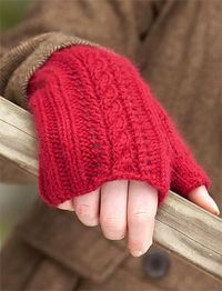 Lush Fingerless Mitts by Susan Mills Published in Classic Elite Yarns Web-Letter free knitting pattern