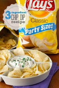 Tweet Tweet Chips and dip are classic tailgating fare, and I've shared lots of my favorite dip recipes with you already. But I've been saving my favorite chip d
