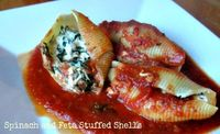 Stuffed shells are one of my favorite fall and winter comfort foods. They are simple to make and freeze great! You can easily make a double or triple batch to s