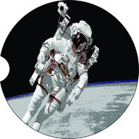 2 Absorbent Car Coasters of Astronaut. Car Accessories for her, Auto Coaster, Coaster, Cup Holder Coaster, Gift For Her, For Him $14.00