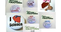 Gifts for #Science Lovers - Pinback #buttons are perfect to add to laptop cases, purses and to add the finishing touch to that everyday cosplay!