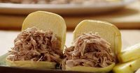 Oven Kalua Pork - Pork Butt baked low and slow. Serve on buns, or alongside poi and yams for a luau-worthy feast. World Market has Hawaiian sea salt, which works beautifully for this recipe.