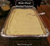 This recipe for make ahead mashed potatoes is great for a dinner party or when you don't want to have your kitchen messy when you are serving dinner