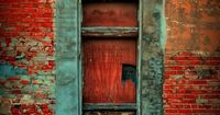 There is a doorway similar to this in a rural Arkansas town. I love the material contrast
