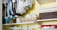 incredible use of closet space here w. baby clothes {this is happening at the future D'Angelo casa}