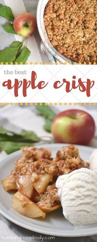 The topping on this apple crisp is packed with crumbly goodness. The perfect fall dessert. Recipe includes modifications for different types of apples.