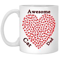Cat Lover Gift, Cat Mugs, Cat Dad, Fathers Day Gift, Awesome Cat Dad Mug, Fathers Day Holiday, Cat Coffee Mug, Gift For Dad, Cat Lovers $16.73