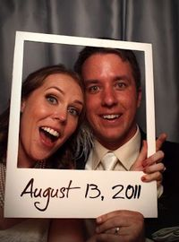 Polaroid Photo Booth Props ~ Make it out of dry erase boards so people can write their own caption