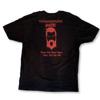 "THIGHBRUSH® BIKERS - ""When You Want More than Just the Hog"" - Men's T-Shirt - Black and Red"