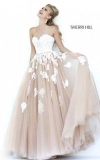 Discount Ivory Nude Lace Homecoming Dress 2015 Sherri Hill 11200