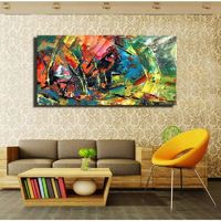 Wild The Boat Race Wall Oil Painting Prints On Canvas $90.99