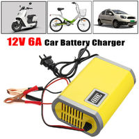 12V 24AH-63AH Smart LED Car Motorcycle Battery Charger