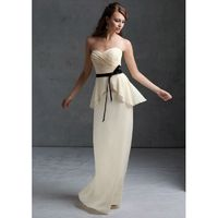 Charming A-line Sweetheart Ruching Sashes/Ribbons Floor-length Chiffon Bridesmaid Dresses - Dressesular.com