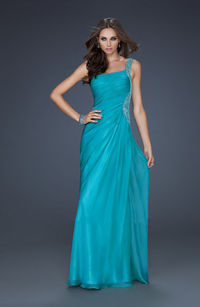 One Shoulder Beaded Green Sequin Long Prom Dresses 2014  http://www.2014partydresssale.com/