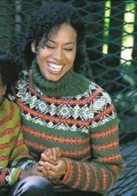 For experienced knitters, try this knit sweater using a fair isles design! It'll keep you warm and cozy throughout the cold seasons.