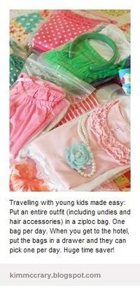 Traveling with kids-clothing idea- so doing this for my daughter next time we travel